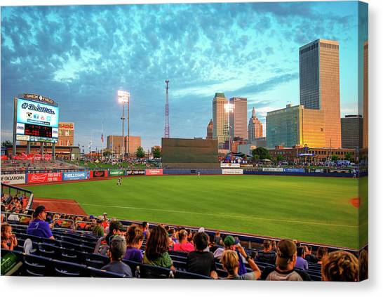 Canvas Print featuring the photograph Oneok Stadium - Tulsa Drillers Stadium View by Gregory Ballos