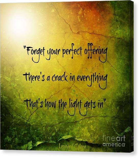 Perfect Offerings Canvas Print