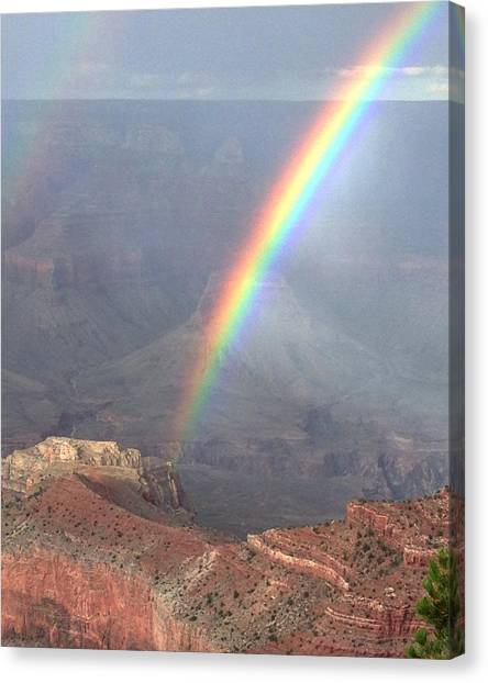 Perfect Rainbow Kisses The Grand Canyon Canvas Print