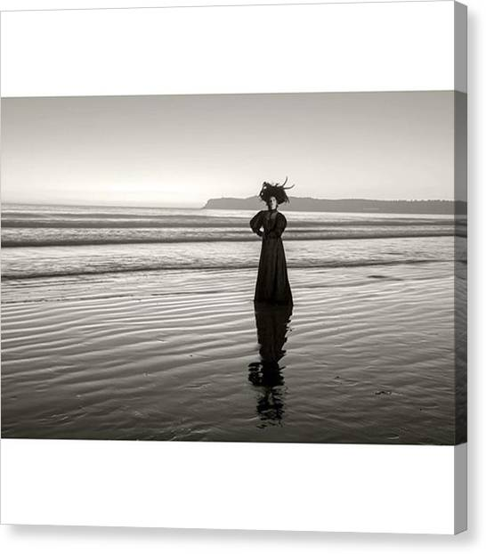 Los Angeles Canvas Print - Perhaps The Most Famous #ghost In by Sad Hill - Bizarre Los Angeles Archive