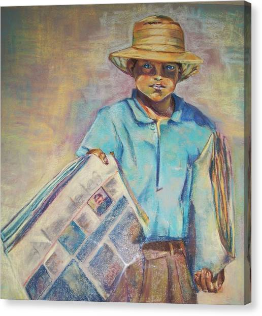 Periodiquero Canvas Print by Diana Moya