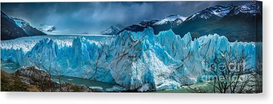 Perito Moreno Glacier Canvas Print - Perito Moreno Panorama by Inge Johnsson