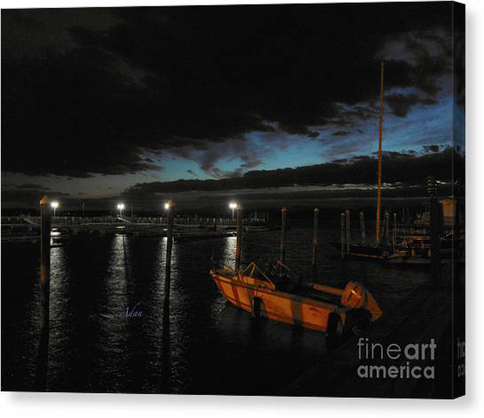 Perkins Pier Sunset Canvas Print