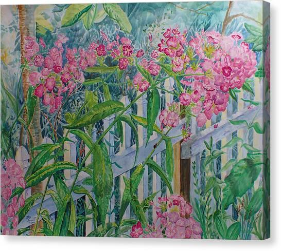 Perky Pink Phlox In A Dahlonega Garden Canvas Print