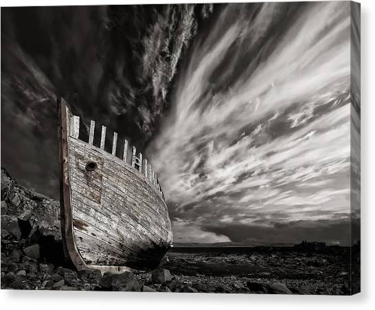 Ships Canvas Print - Permanent Place by ?orsteinn H. Ingibergsson