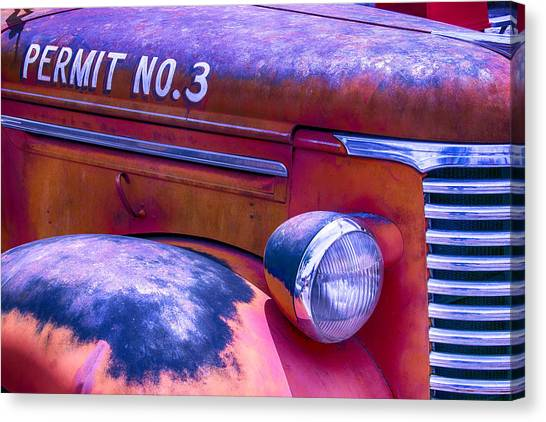 Rusty Truck Canvas Print - Permit No 3 by Garry Gay