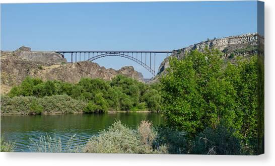 Perrine Bridge At Twin Falls Canvas Print
