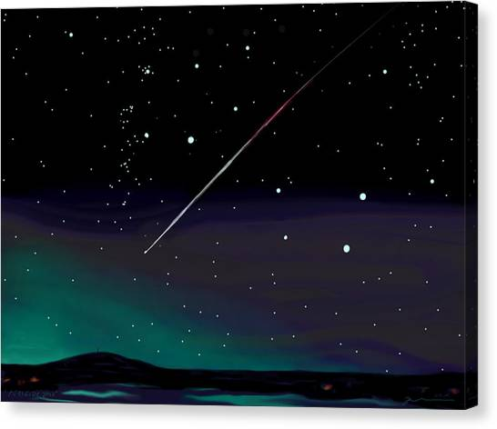 Perseid Meteor Shower  Canvas Print