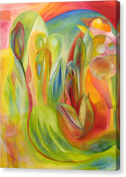 Canvas Print featuring the painting The Liberation Of Persephone by Linda Cull