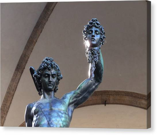 Perseus And Medusa Detail Canvas Print by Edan Chapman