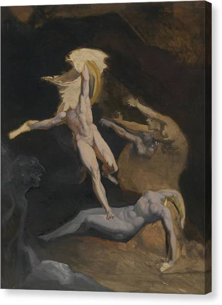 Gorgons Canvas Print - Perseus Slaying The Medusa by Henry Fuseli