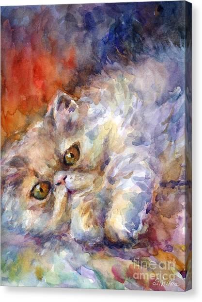 Persians Canvas Print - Persian Cat Painting by Svetlana Novikova
