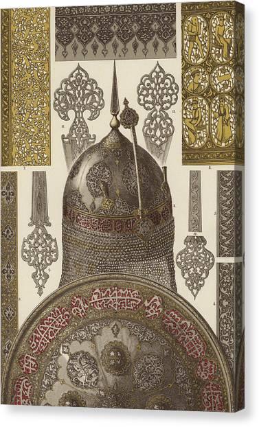 Persians Canvas Print - Persian Metalwork by German School