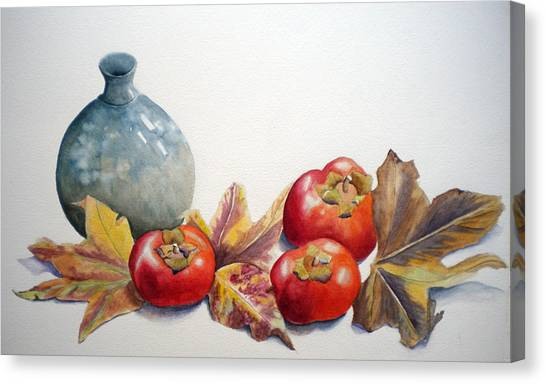 Persimmon Trio Canvas Print