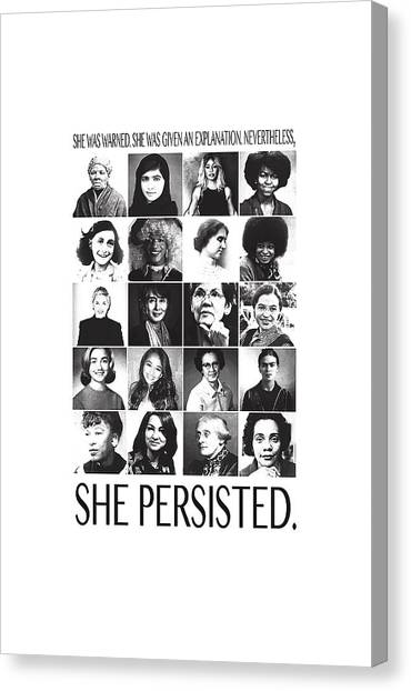 Elizabeth Warren Canvas Print -  Persisted by Carle Hotman