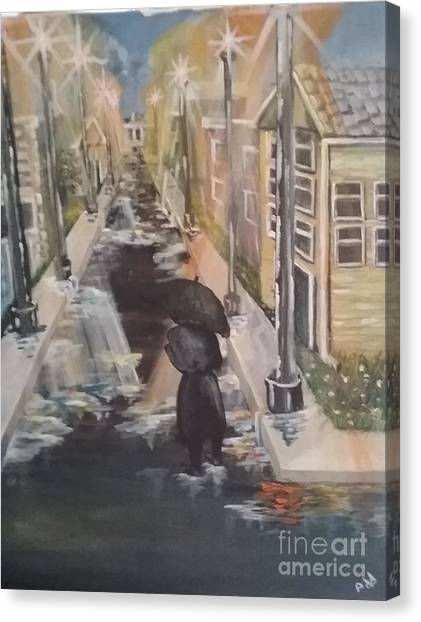 Canvas Print featuring the painting Persistence by Saundra Johnson