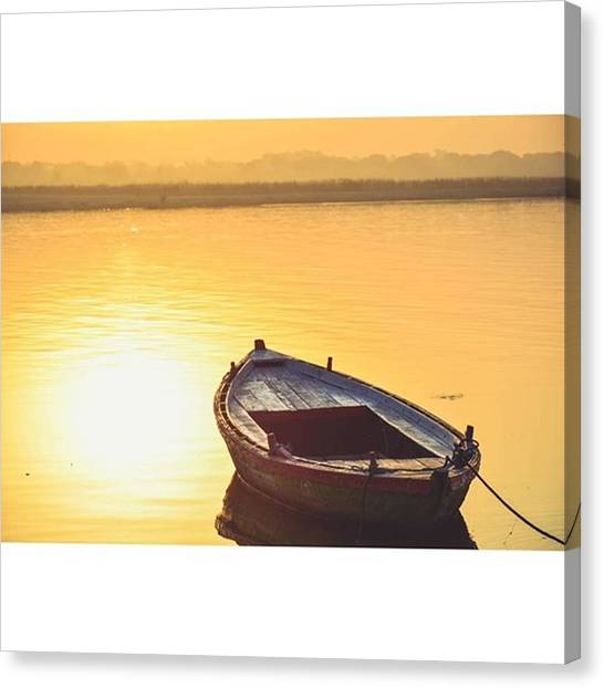 Ganges Canvas Print - Personal Favourite 😊. Had A Complete by Navin Chandrasekhar