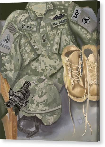 Personalized Art Designed By A Soldier For A Soldier Retiring Or Pcsing   Canvas Print