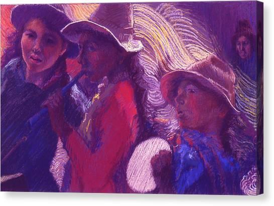 Peruvian Musicians Canvas Print
