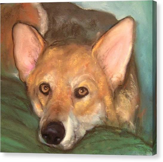 c56324e123e3 Pastel Pet Portrait Canvas Print - Pet Portrait by Darla Joy Johnson