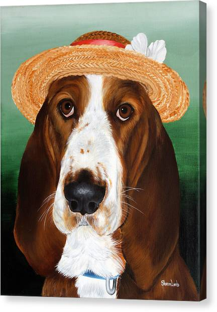 Pet Portrait Painting Commission Dogs Cats Horses  Canvas Print by Sharon  Lamb