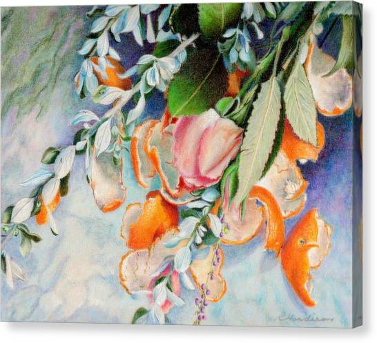 Petals And Peels Canvas Print by Robynne Hardison