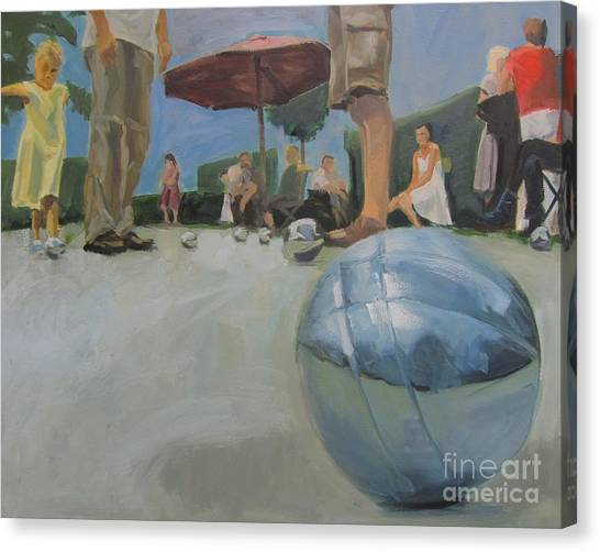 Canvas Print - Petanque 7 by Chris Willems