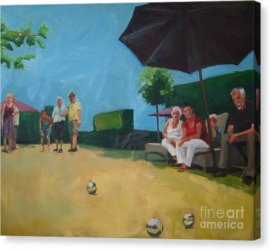 Canvas Print - Petanque by Chris Willems