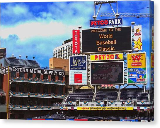 Supplies Canvas Print - Petco Park by Raul Perez