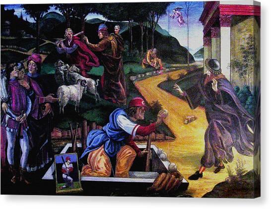 Pete Rose In The Renaissance Canvas Print