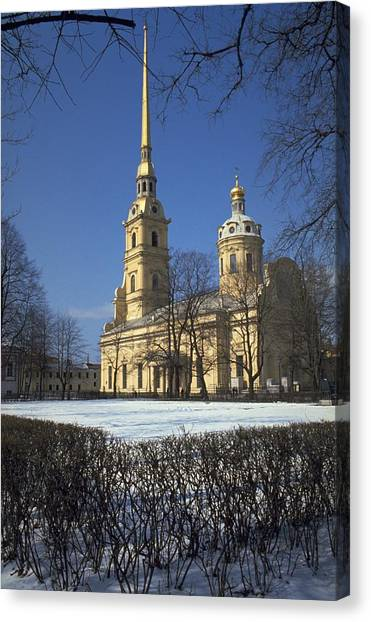 Travelpics Canvas Print - Peter And Paul Cathedral by Travel Pics