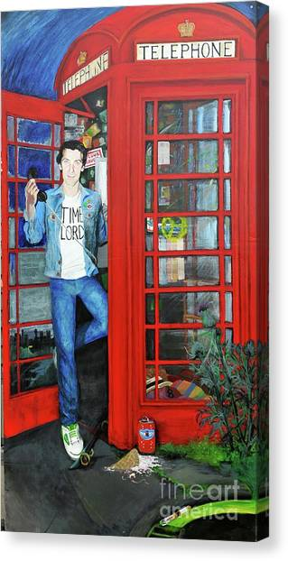 Peter Capaldi Dr Who Putting You Through Canvas Print