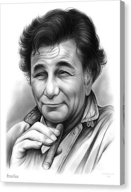 Influence Canvas Print - Peter Falk by Greg Joens