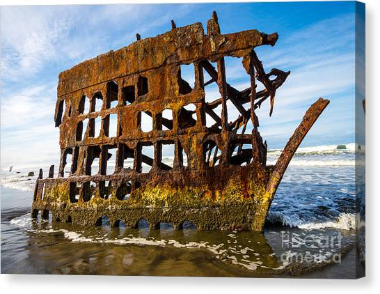 Peter Iredale Canvas Print - Peter Iredale Shipwreck - Oregon Coast by Gary Whitton