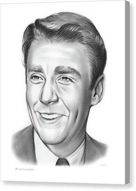 Democratic Presidents Canvas Print - Peter Lawford by Greg Joens