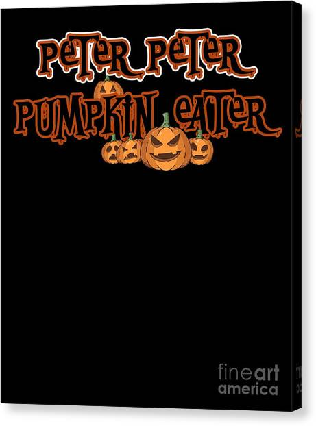 Canvas Print - Peter Pumpkin Eater Halloween Costume by Thomas Larch