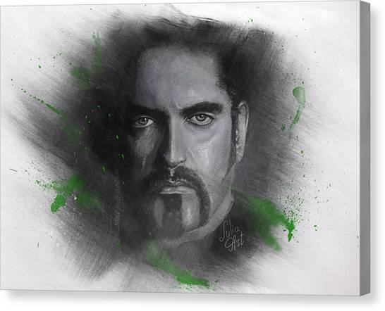 Canvas Print featuring the drawing Peter Steele, Type O Negative by Julia Art