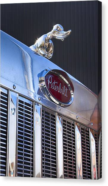 Peterbilt Angry Duck Canvas Print