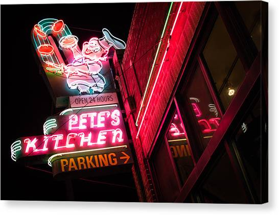 Pete's On Colfax Canvas Print