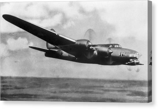 Petlyakov Pe-8, Soviet Ww2 Bomber Canvas Print by Ria Novosti