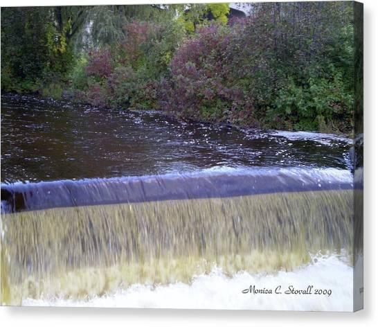 Petoskey Mi Mineral Park Waterfall  Canvas Print