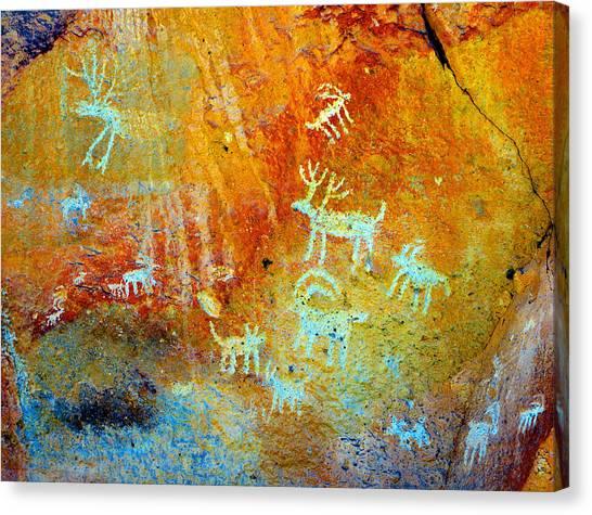 Petroglyph Panel Work 12 Canvas Print
