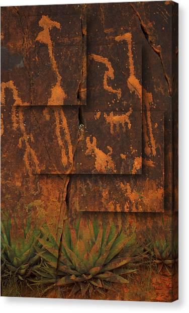 Petroglyphs Agave Canvas Print
