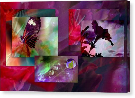 Petunia Collage Canvas Print by Irma BACKELANT GALLERIES