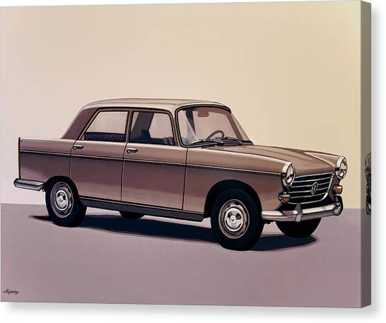 Realism Art Canvas Print - Peugeot 404 1960 Painting by Paul Meijering