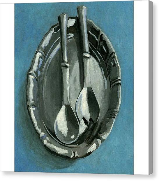 Painters Canvas Print - Pewter by Karyn Robinson