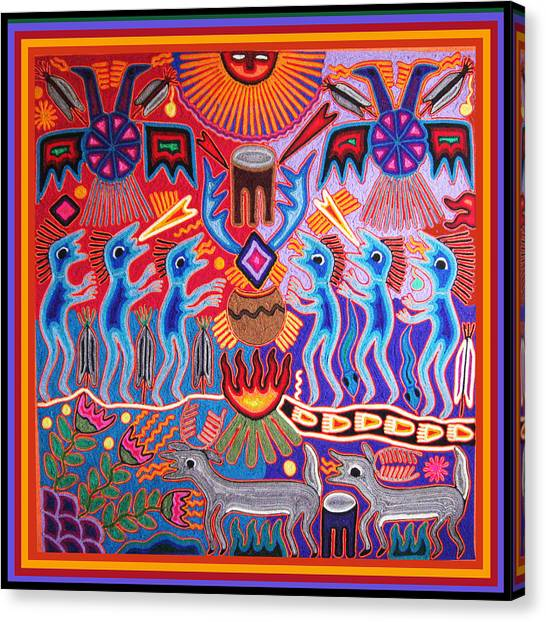 Peyote Shaman Hunting Ritual Canvas Print