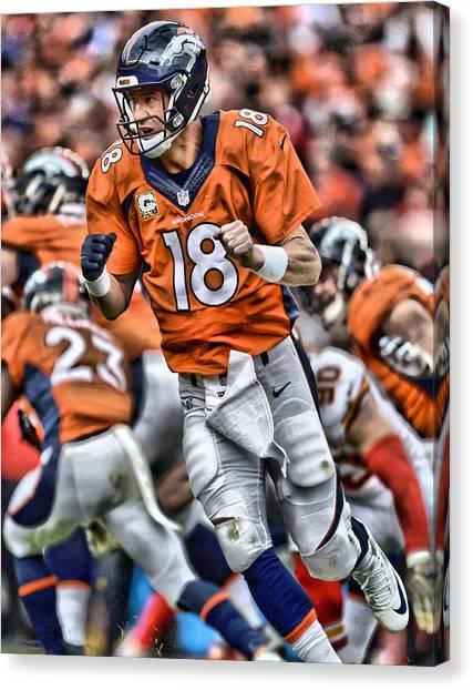 Peyton Manning Canvas Print - Peyton Manning Art 2 by Joe Hamilton