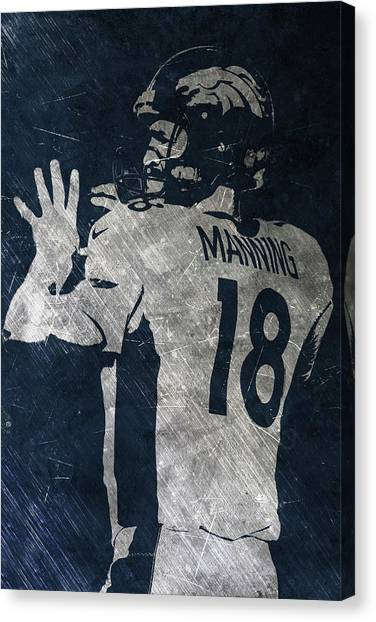 Peyton Manning Canvas Print - Peyton Manning Broncos 2 by Joe Hamilton