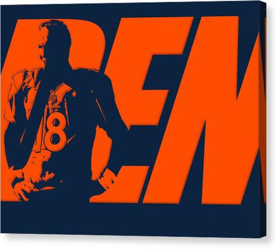 Peyton Manning Canvas Print - Peyton Manning City Name by Joe Hamilton